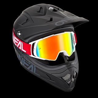B-20 Goggle FLAT red/white - radium